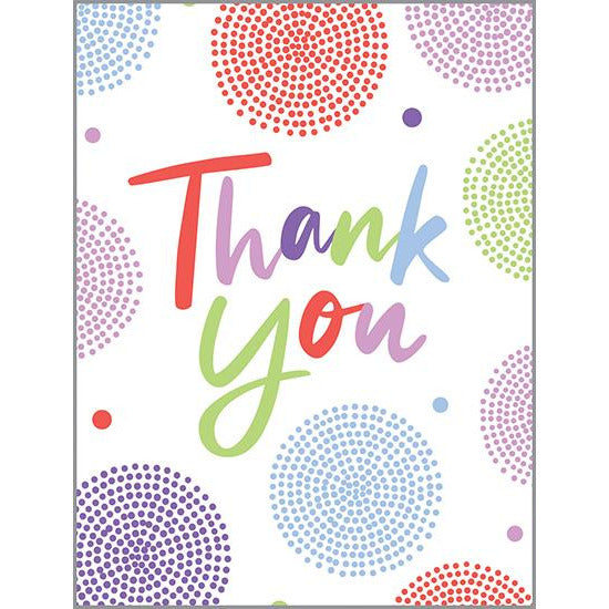 Thank You Card - Circle Dots