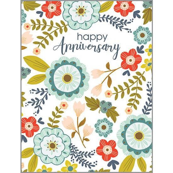 Anniversary card - Nordic Floral
