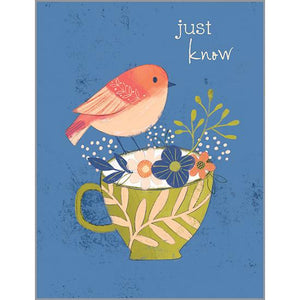 Thinking of you - Bird on Cup