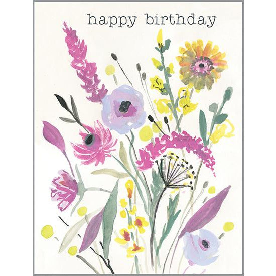 Birthday card - Birthday Flower Stems