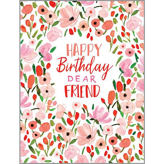 Birthday card - Sweet Pink Flowers