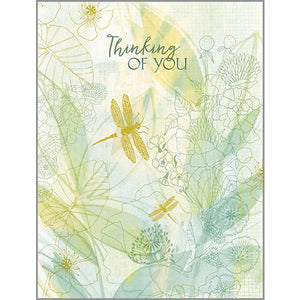 {with scripture} Thinking of You Card - Dragonfly Sketch