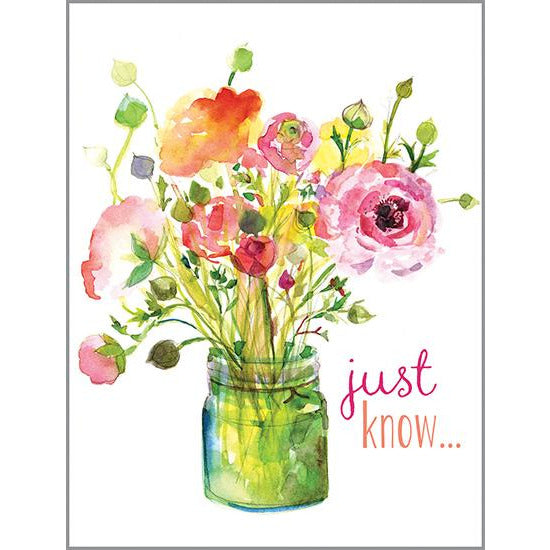 {with scripture} Thinking of You Card - Jar of Roses, Gina B Designs