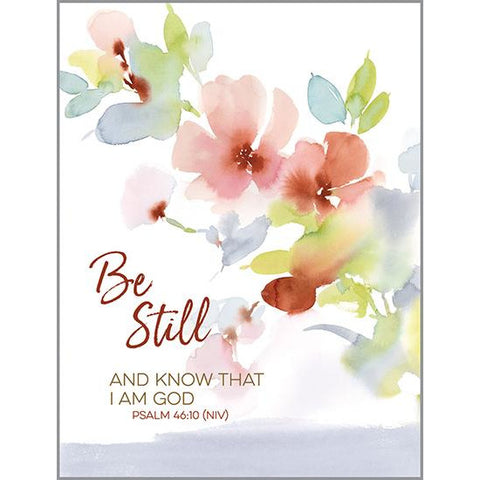 {with scripture} Thinking of You card - Coral Grey Be Still