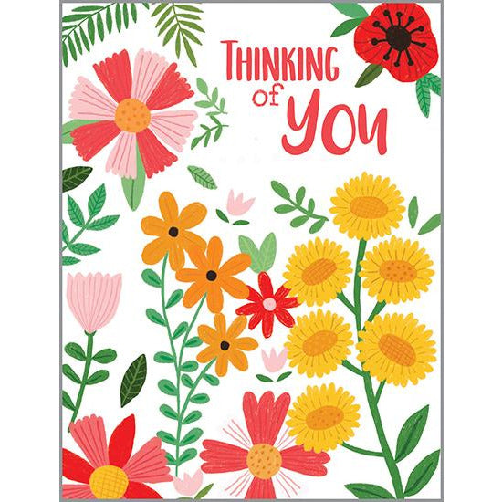 {with scripture} Thinking of You Card - Cheery Daisies