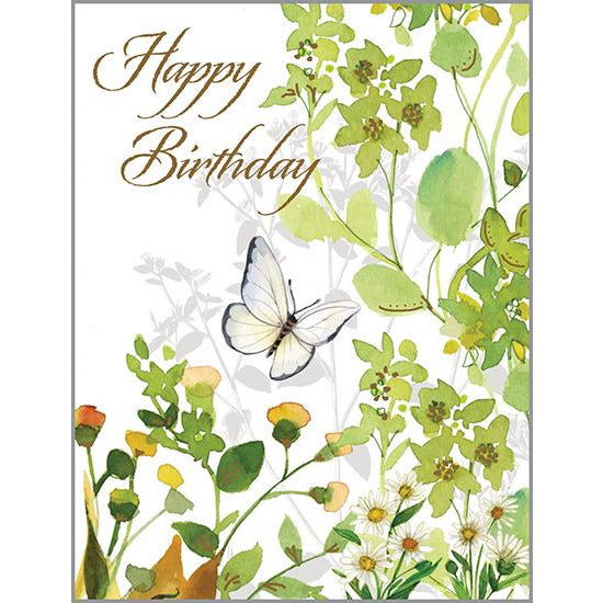 {with scripture} Birthday Card - Green Flora