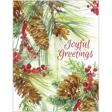 Christmas cards -Pinecone & Berries-sale