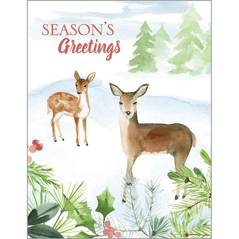 Christmas cards- Two Deer-sale