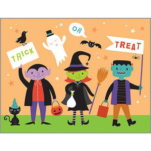 Halloween Card - Trick or Treaters