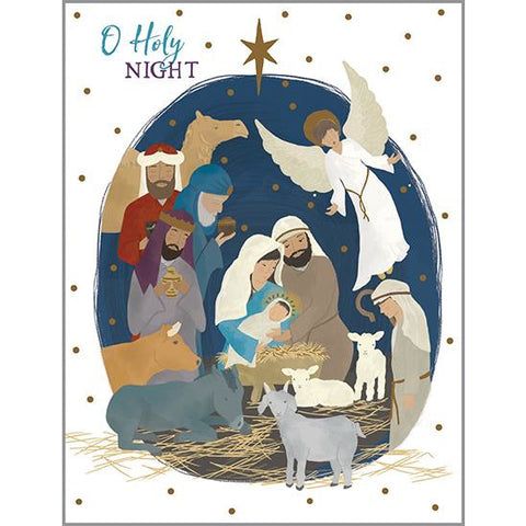 {with scripture} Christmas card - Nativity, Gina B Designs
