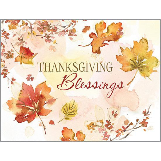{with scripture} Thanksgiving card - Blessings