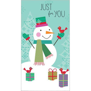 Money/Gift Card - Snowman/Red Bird