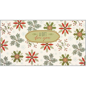 Money/Gift Card - Snowflakes/Holly/Pine-sale