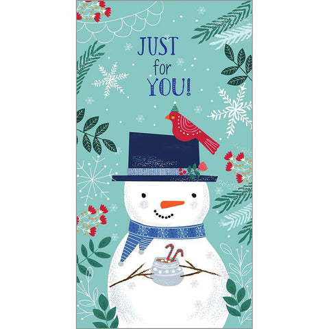 Money/Gift Card - Snowman Hot Coco, Gina B Designs