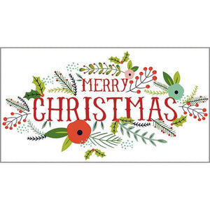 Money/Gift Card - Christmas Flowers, Gina B Designs