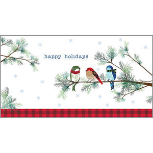 Money/Gift Card - Winter Birds/Pine, Gina B Designs