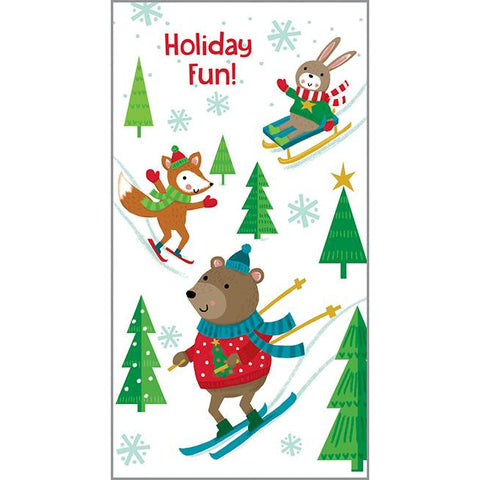 Money/Gift Card - Animal Winter Fun, Gina B Designs