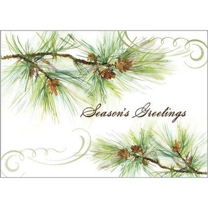 Gift Card Greetings - Pine Branches/Cones -sale