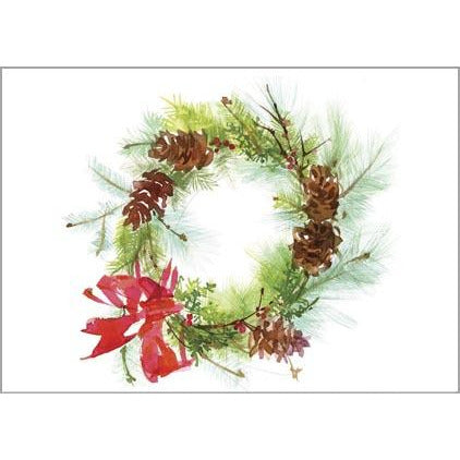 Gift Card Greetings - Pinecone Wreath -sale