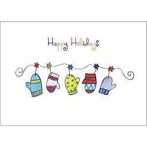 Gift Card Greetings - Hanging Mittens -sale
