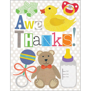 Blank Thank You Card - Baby Toys, Gina B Designs
