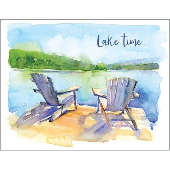 Blank Note Card - Chairs on Dock