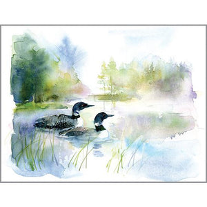 Blank Note Card  - Loons