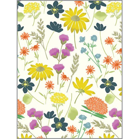 Blank Note Card  - Wildflowers, Gina B Designs