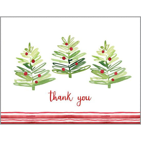 Thank You Blank Note Card  - Happy Merry Trees