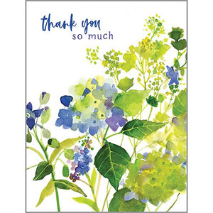 Blank Thank You Card - Hydrengea
