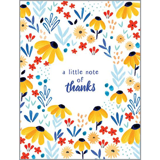 Blank Thank You Card - Black Eyed Susans