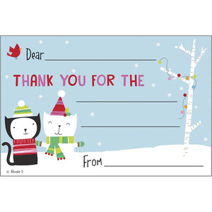 Holiday Kids Thank You Postcards - Christmas Kitties, Gina B Designs