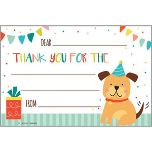 Kids Thank You Postcards - Party Puppy, Gina B Designs