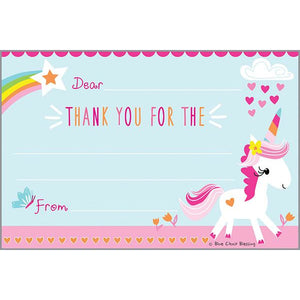 Kids Thank You Postcards - Unicorn and Rainbow, Gina B Designs