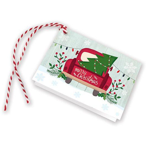 Holiday Gift Tags - Festive Christmas Truck