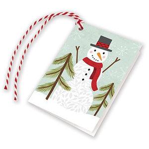 Holiday Gift Tags - Snowman with Pine