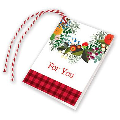 Holiday Gift Tags - Season's Wreath