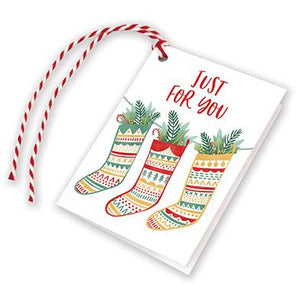 Holiday Gift Tags - Nordic Stockings