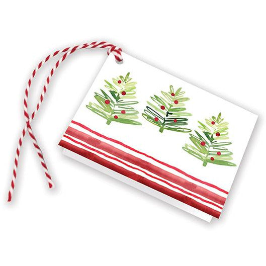 Holiday Gift Tags - Happy Merry Trees