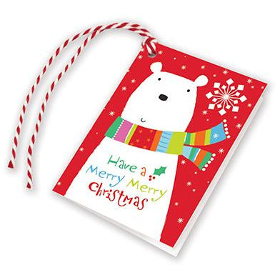 Holiday Gift Tags - Bear in Scarf, Gina B Designs