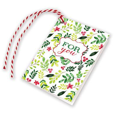 Holiday Gift Tags - Flowers/Greens, Gina B Designs