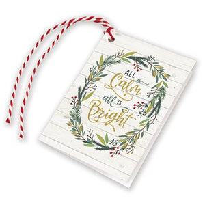 Holiday Gift Tags - Pine Branch Wreath, Gina B Designs
