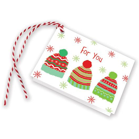Holiday Gift Tags - 3 Knit Caps, Gina B Designs