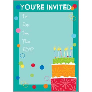 Fill-In Invitation - Big Cake
