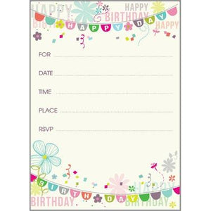 Fill-In Invitation - Birthday Banners