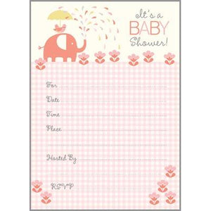 Fill-In Invitation - Pink Elephant