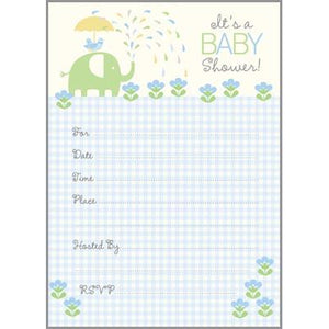 Fill-In Invitation - Blue Elephant