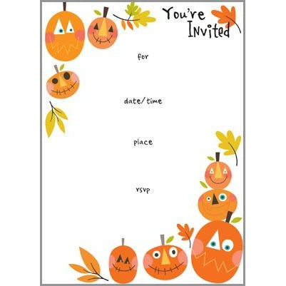 Fill-In Invitation - Happy Pumpkins, Gina B Designs