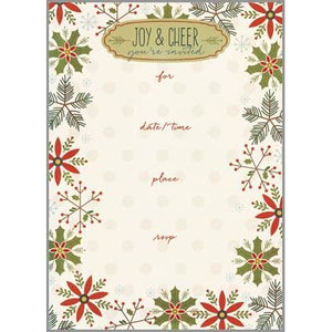 Fill-In Invitation - Snowflakes/Holly/Pine, Gina B Designs