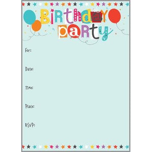 Fill-In Invitation - Birthday Party